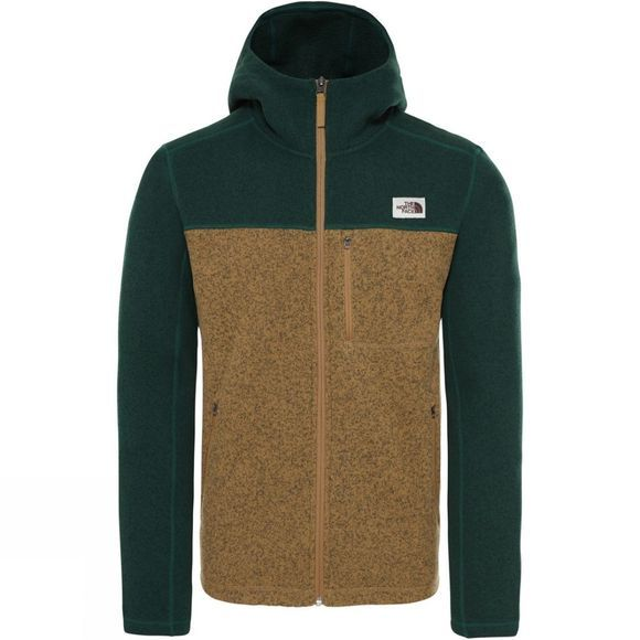 The North Face Mens Gordon Lyons Hoodie British Khaki Heather/Night Green Heather
