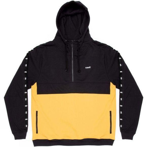 Planks Men's Brother-Hood Half Zip Black