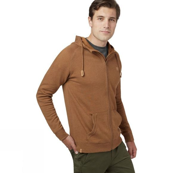 Tentree Oberon Zip Hoodie Rubber Brown Heather