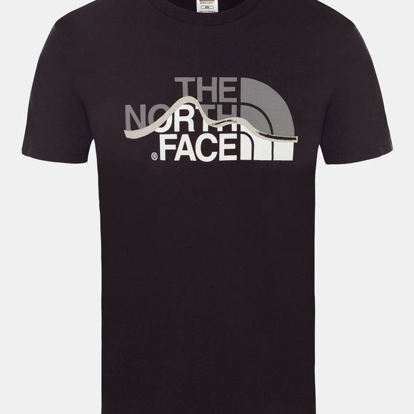 The North Face Men's Short Sleeve Mountain Line Tee TNF Black