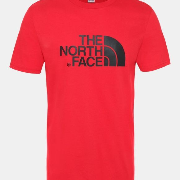 The North Face Men's Short Sleeve Easy Tee Tnf Red/Tnf Black