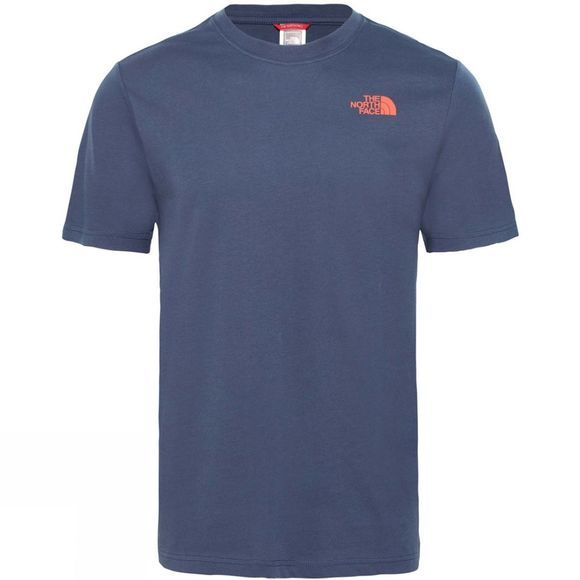 The North Face Men's Short Sleeve Red Box Tee Urban Navy/Fiery Red