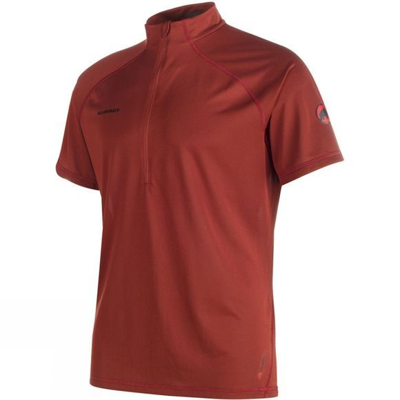 Mammut Men's Atacazo Light Zip T-Shirt Maroon