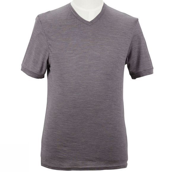 Men's 150gsm Single Jersey Merino Short Sleeve Vee Neck Tee