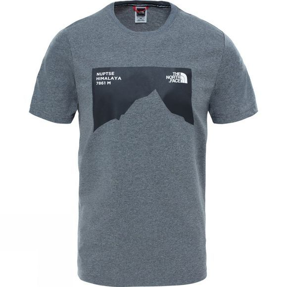 The North Face Mens Nuptse Celebration Tee TNF Medium Grey Heather