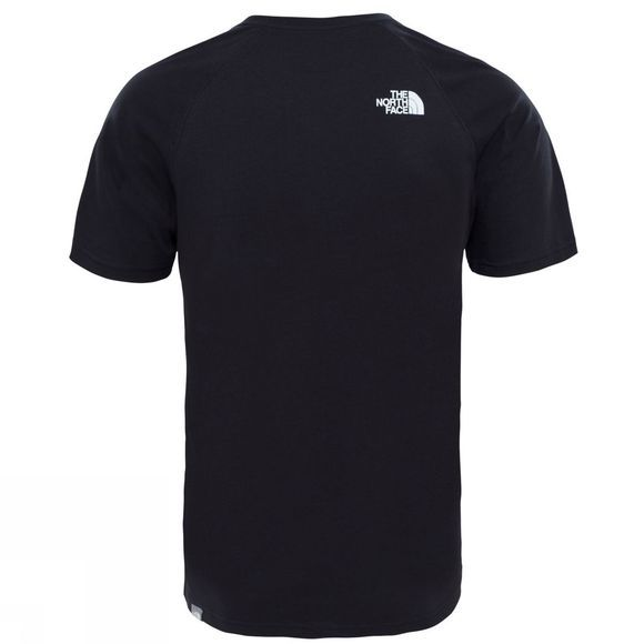 The North Face Short Sleeve Raglan Red Box Tee TNF Black
