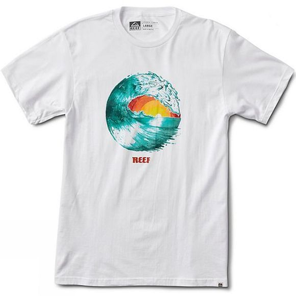 Reef Mens Colour Tee White