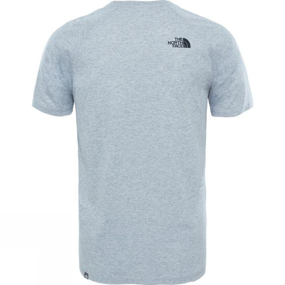 The North Face Mens Raglan Red Box T-Shirt TNF Light Grey Heather
