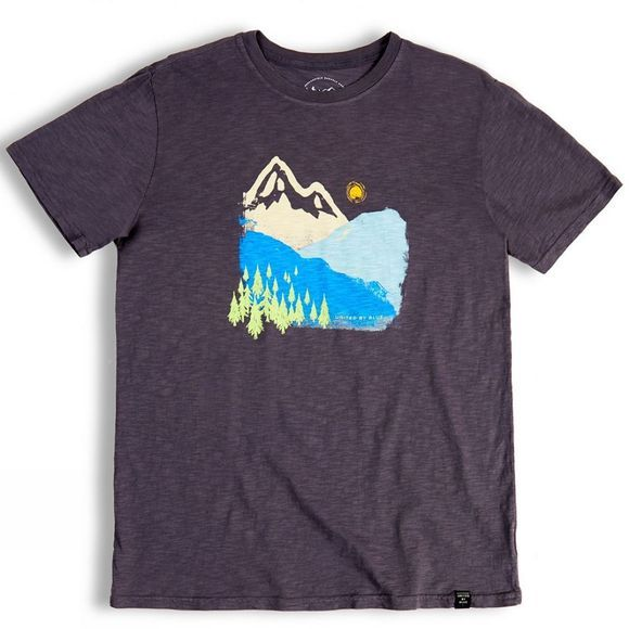 United By Blue Mens Mountain Ink T-Shirt Charcoal