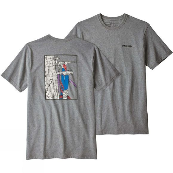 Patagonia Mens OG Ice Tools Responsibili Tee Gravel Heather