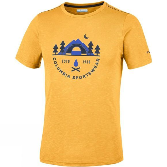 Columbia Mens Nelson Point Graphic Short Sleeve T-Shirt Stinger Heather