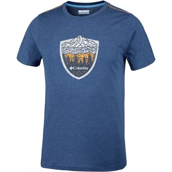 Columbia Mens Hillvalley Forest Short Sleeve T-Shirt Carbon Heather