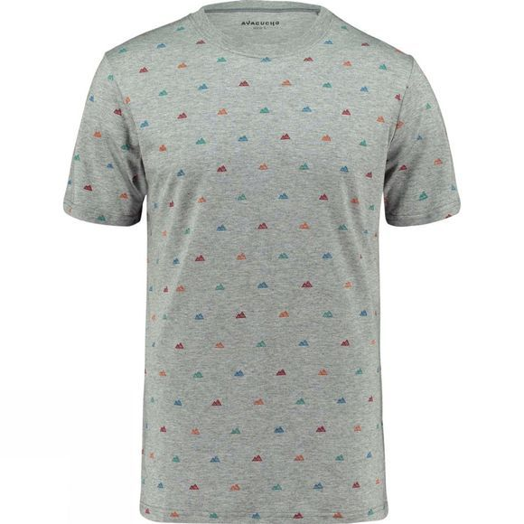 Ayacucho Mens Multi Mini Mountain Tee MULTI MINI MOUNTAIN GREY MELANGE