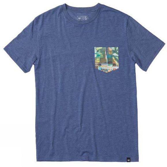 Tentree Mens Scan Pocket Short Sleeve Tee Dark Denim