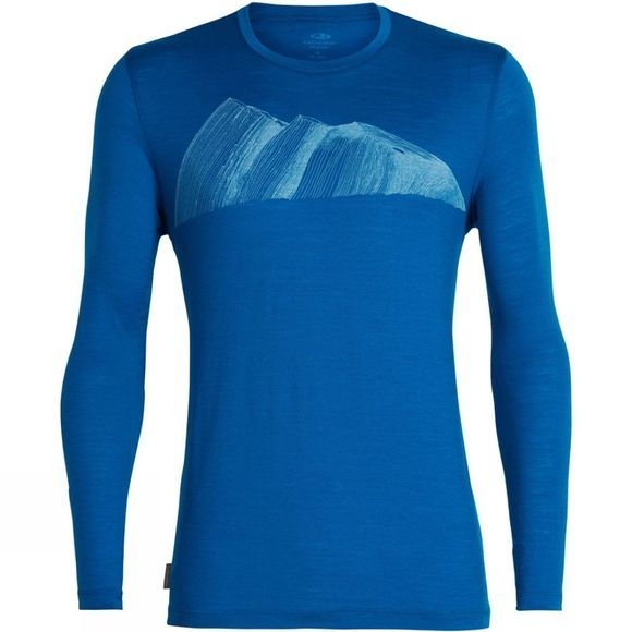 Icebreaker Mens Tech Lite LS Crewe Remarkables Isle
