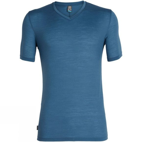 Icebreaker Mens Elements Short Sleeve V Thunder