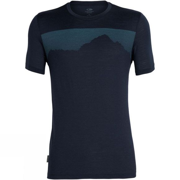 Icebreaker Mens Tech Lite SS Crewe Cook By Night Midnight Navy