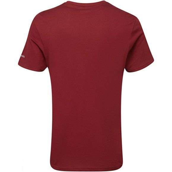 Columbia Mens Muir Pass Short Sleeve Tee Red Jasper Bear Print