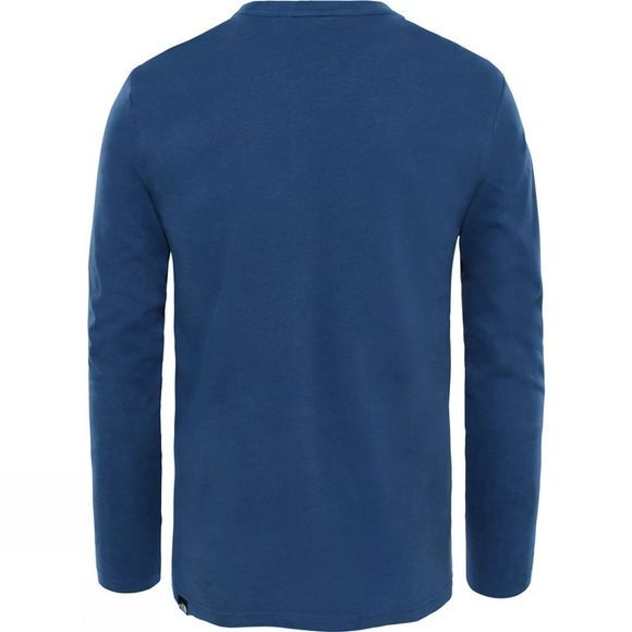 The North Face Mens Long Sleeve Fine T-Shirt Blue Wing Teal