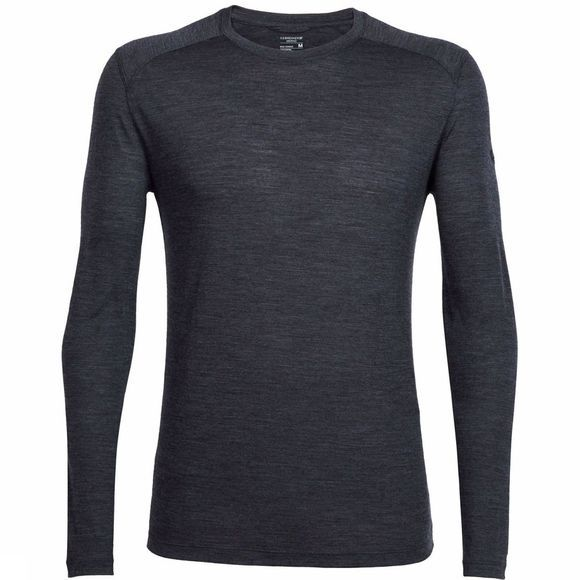Icebreaker Mens Sphere Long Sleeve Crewe Black Heather