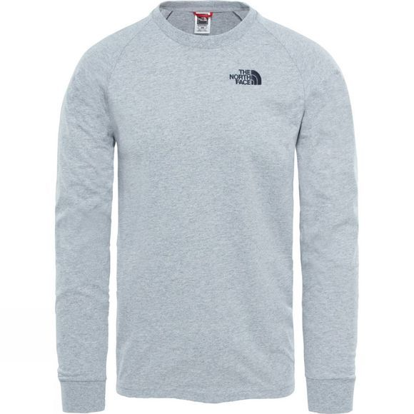 The North Face Mens Raglan Simple Dome Long Sleeve T-Shirt TNF Light Grey Heather
