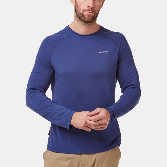 Craghoppers Mens Nosilife Bayame II Long Sleeved T-Shirt Lapis Blue