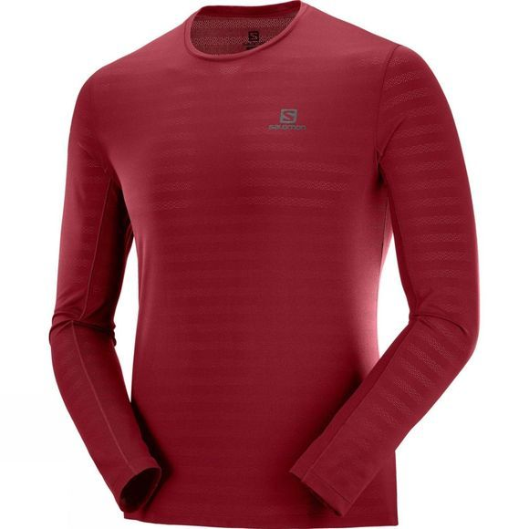 Salomon Mens XA L/S Tee Biking Red