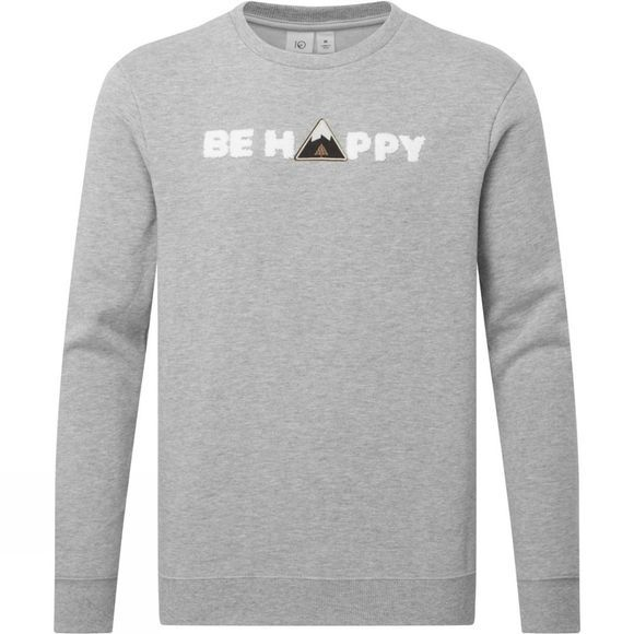 Tentree Happy Long Sleeve Crew Sweater Hi Rise Grey Heather