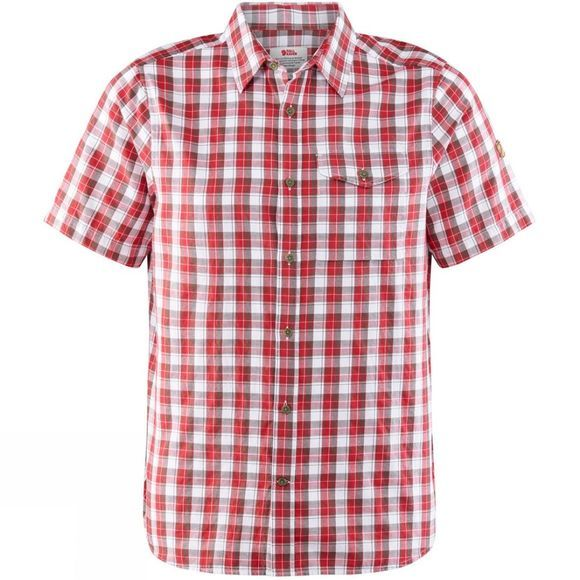 Fjallraven Mens Singi Short Sleeved Shirt Lava