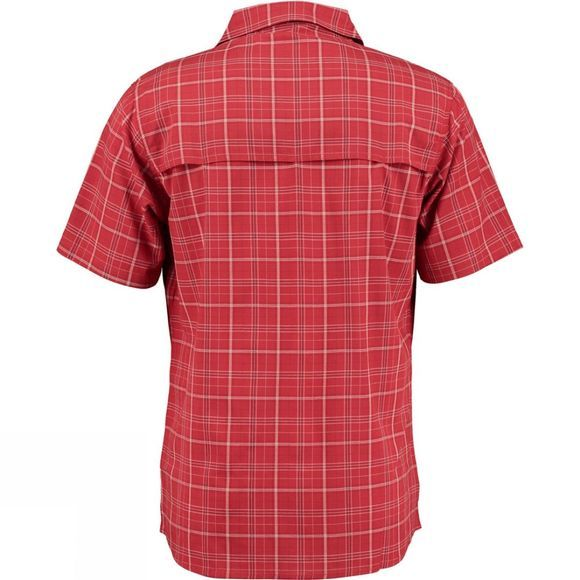 Ayacucho Mens Hiker II Stretch Short Sleeve Shirt Red Check