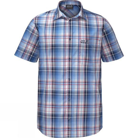 Jack Wolfskin Mens Hot Chili Shirt Night Blue Checks