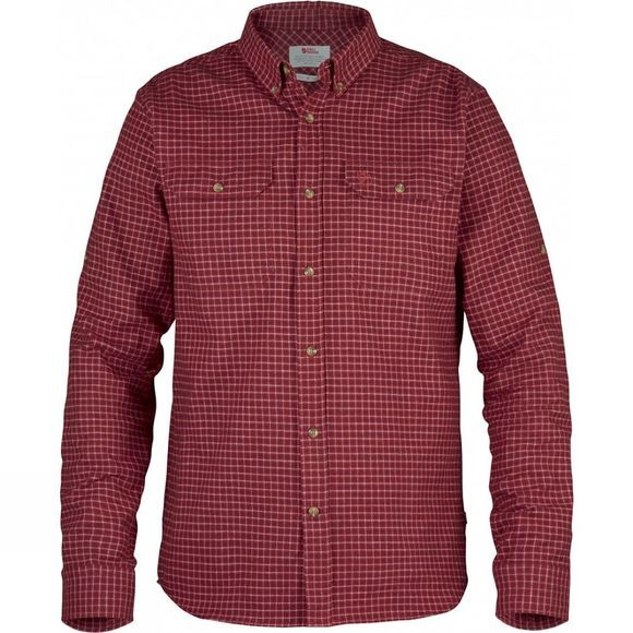 Fjallraven Mens Forest Flannel Shirt Deep Red
