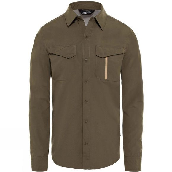 The North Face Mens Long Sleeve Sequola Shirt New Taupe Green