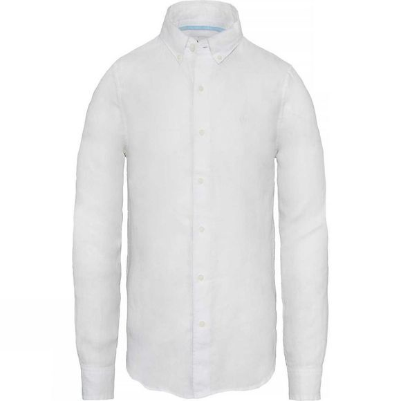 Timberland Mens Mill River Linen Shirt White Heather
