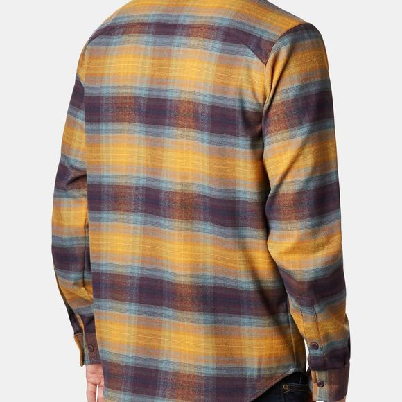 Columbia Mens Outdoor Elements Stretch Flannel Burnished Amber Plaid