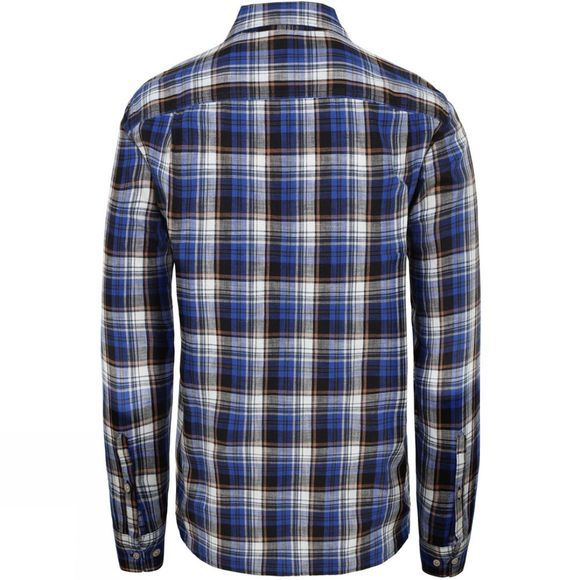 The North Face Mens Long Sleeve Ostrander Plaid Shirt TNF Blue Uber Plaid