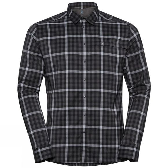 Odlo Mens Fairview Long-Sleeve Shirt Black - Odlo Graphite Grey - Tradewinds - Check