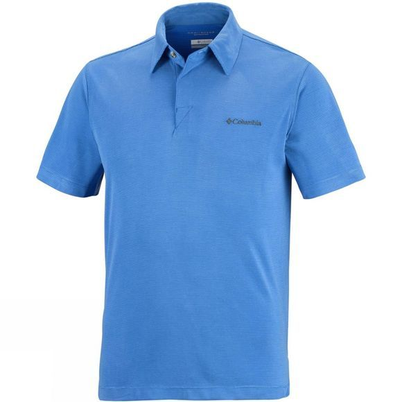 Columbia Mens Sun Ridge Polo Stormy Blue