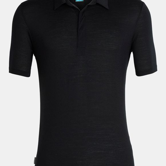 Icebreaker Mens Solace Short Sleeve Polo Shirt Black