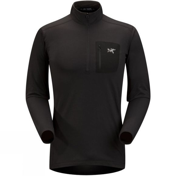 Arc'teryx Men's RHO Lightweight Zip Neck Black