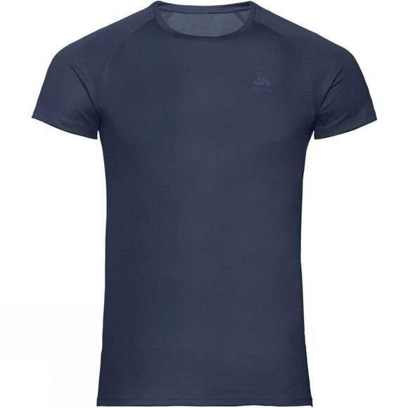 Odlo Mens Active Fast Drying Light Short Sleeve Crew Neck Top Diving Navy