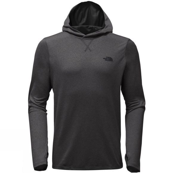 The North Face Mens Reactor Hoodie TNF Dark Grey Heather/TNF Black