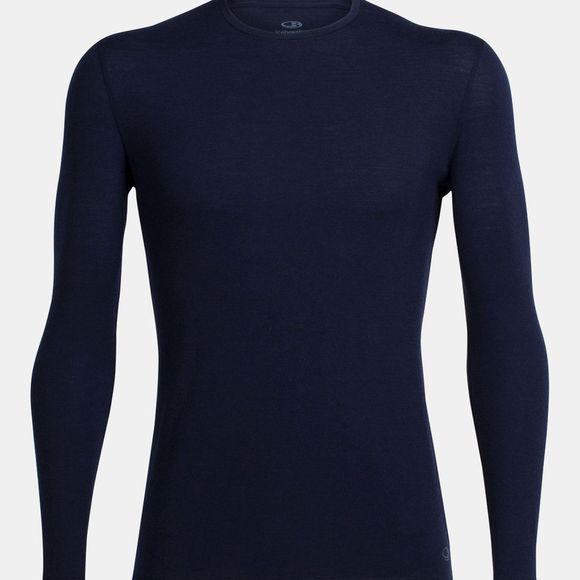 Icebreaker Mens Anatomica Long Sleeve Crewe Midnight Navy