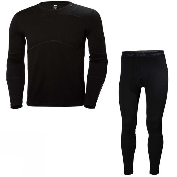 Helly Hansen Mens Merino Set Black