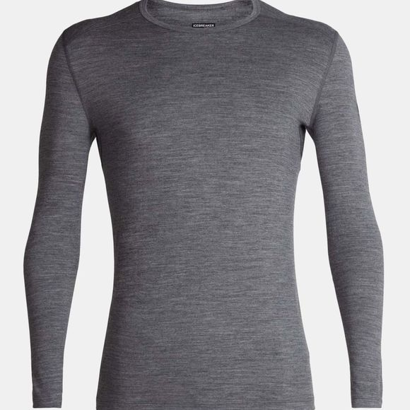 Icebreaker Mens 200 Oasis Long Sleeve Crewe Top Gritstone Heather II
