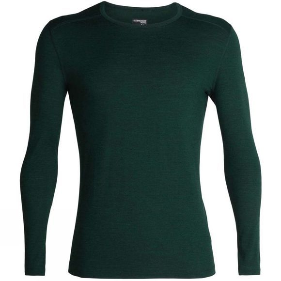 Icebreaker Mens 200 Oasis Long Sleeve Crewe Top Imperial Heather
