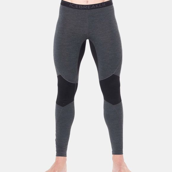 Icebreaker Mens 260 Zone Legging Tights Jet Heather/Black