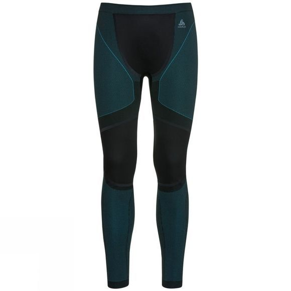 Odlo Mens Performance Windshield Xc Light Base Layer Pants Black - Lake Blue