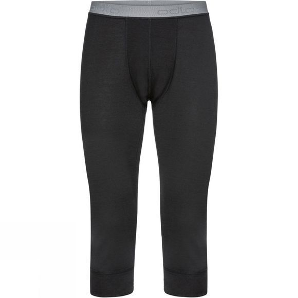 Odlo Mens Natural 100% Merino Warm 3/4 Base Layer Pants Black