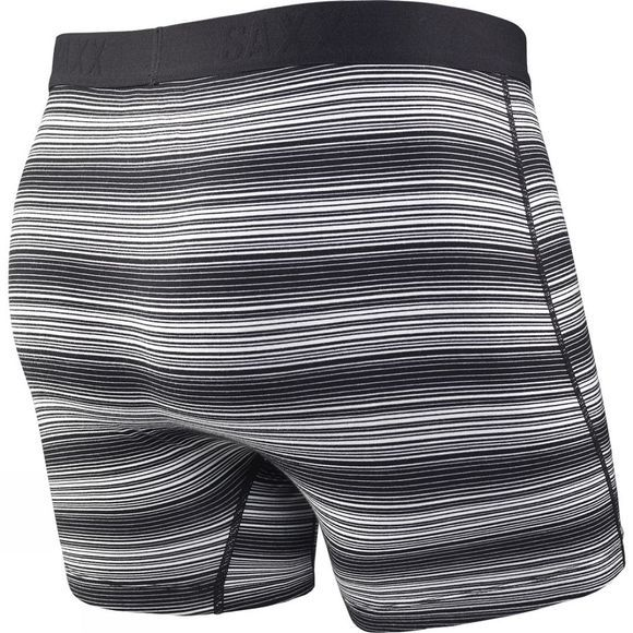 Saxx Mens Ultra Boxers with Fly Black Ombre Stripe